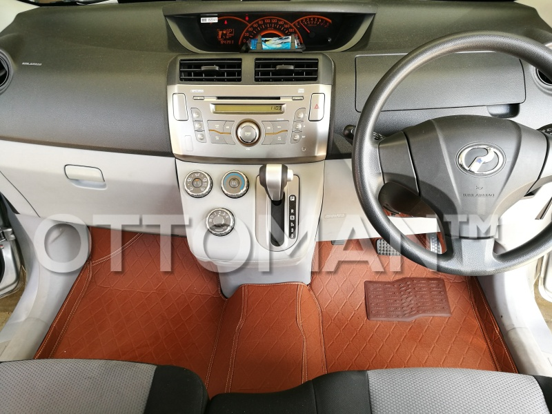 Ottoman car mat brown