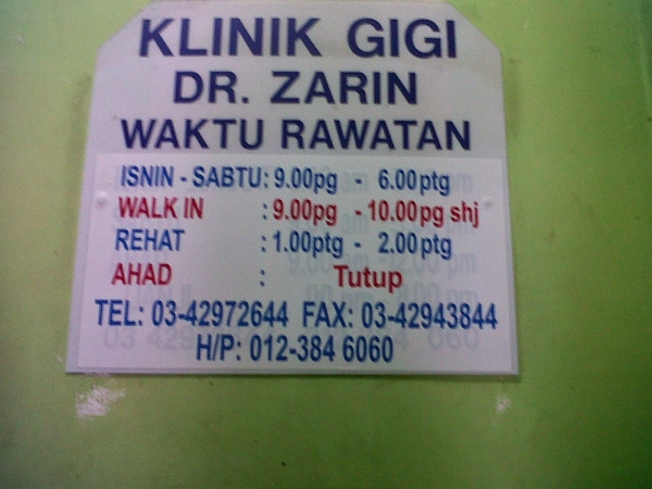 klinik gigi Dr Zanin